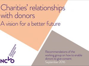 NCVO group publishes recommendations on donor consent