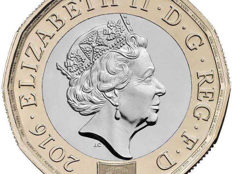One pound coin - obverse