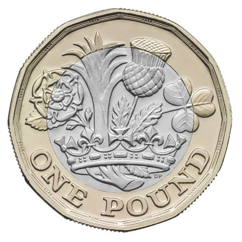 2017 design of one pound coin - reverse (image: The Royal Mint)