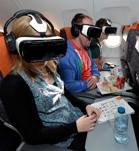easyJet passengers watch Unicef's virtual reality film