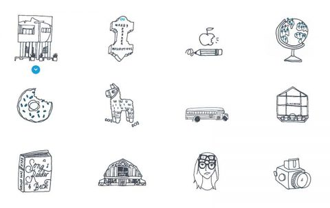 Icons from Warby Parker 2014 annual report