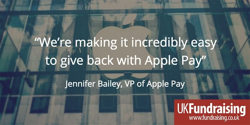 Jennifer Bailey's quotation about Apple Pay and charitable giving