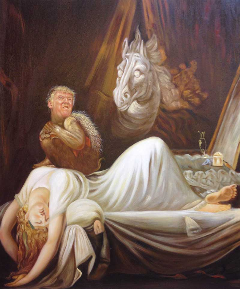 Every Woman's Nightmare, featuring Donald Trump as Incubus. Image: Nobilified.com