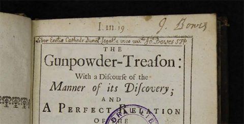 The Gunpowder Treason (1679), by Thomas Barlow, Lord Bishop of Lincoln. Image: Durham Cathedral