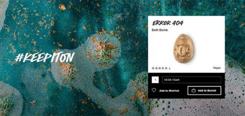 Lush's 404 Error bath bomb on sale