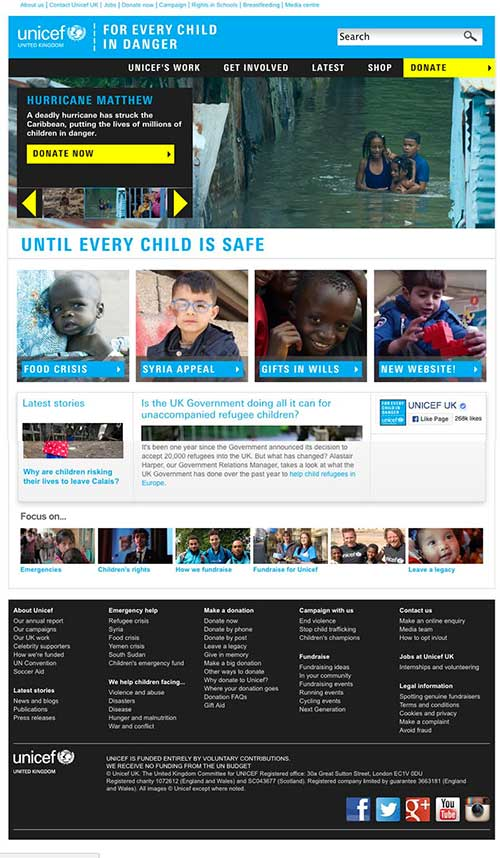 Old Unicef UK design