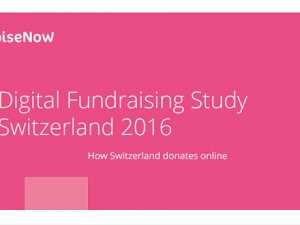 Swiss digital donations increase by 14%, says RaiseNow report