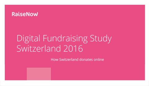 Digital Fundraising Study Switzerland 2016 - cover