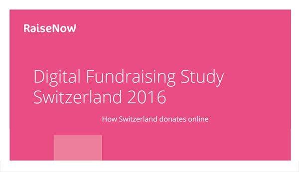 Digital Fundraising Study Switzerland 2016 - cover