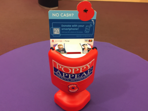 Royal British Legion trials contactless Poppy Appeal collection tins