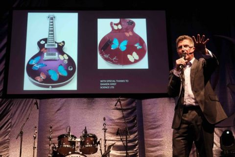 hirst guitar stand up to cancer