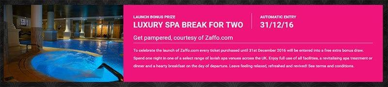 Zaffo spa break prize