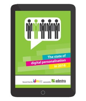 The State of Digital Personalisation (2016) cover - The IDM