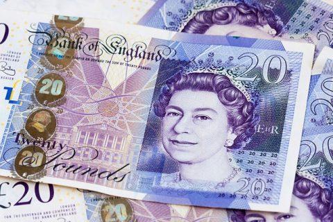 money £20 notes