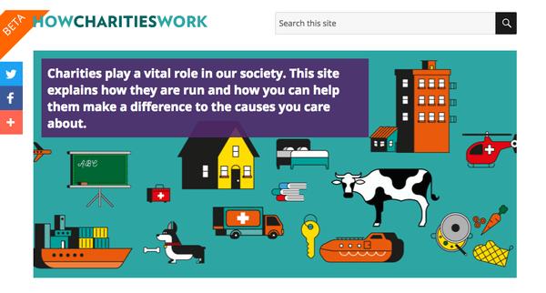 how charities work site