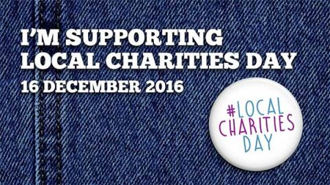 I'm supporting local charities day 2016 - badge on denim