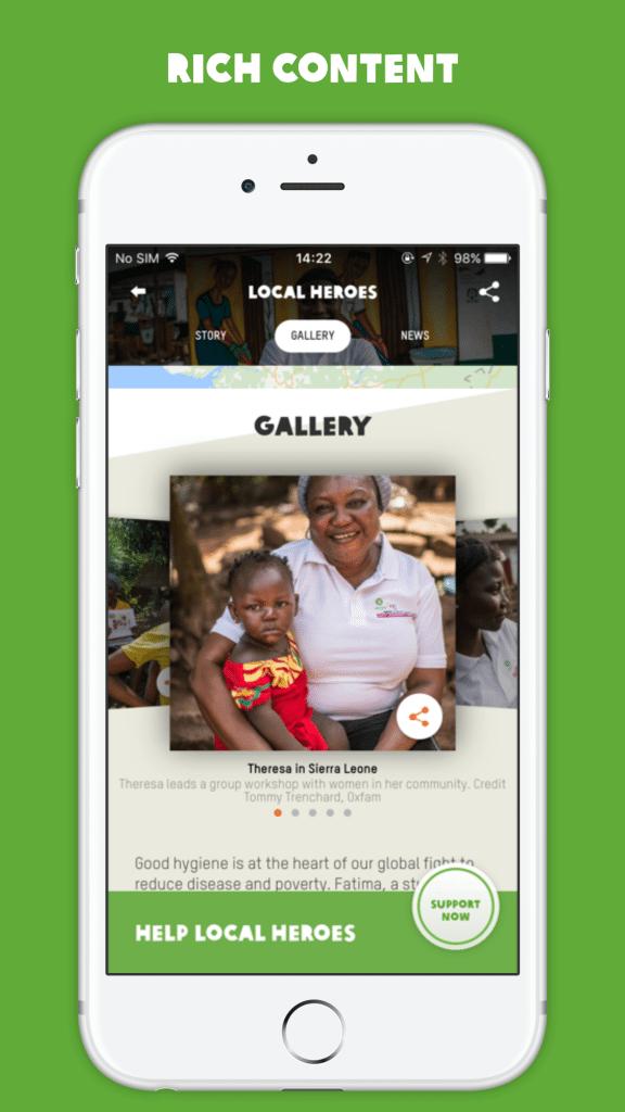 Oxfam app