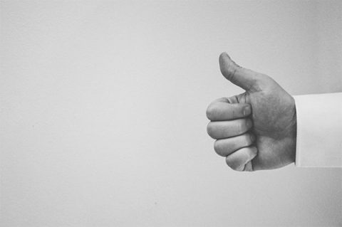 Approval - thumbs up for opt-in. Image: Pexels.com