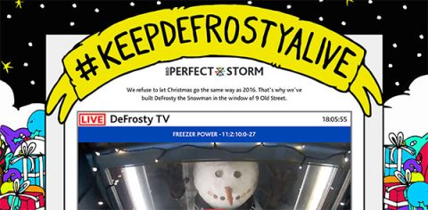 #KeepDeFrostyAlive Christmas fundraising campaign