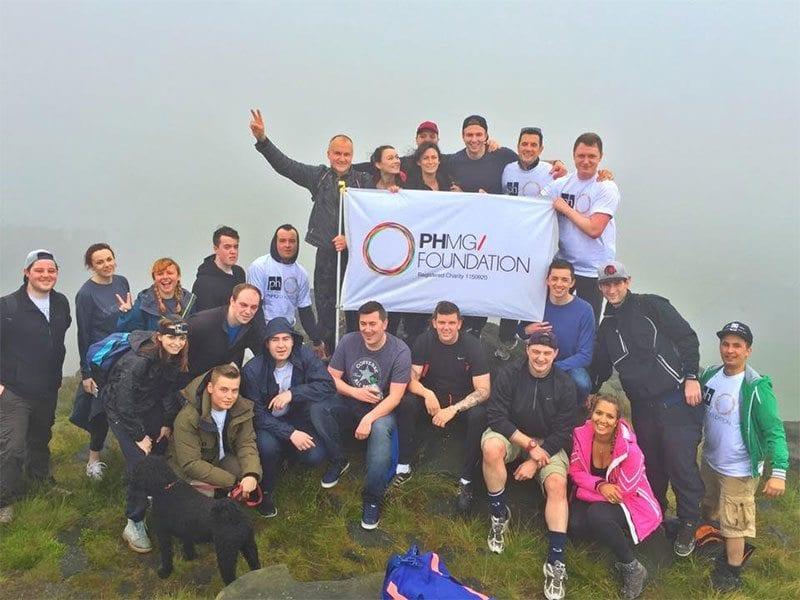 PMGH staff on Dovestone Peak