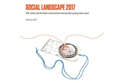 CAF/ACEVO's Social Landscape 2017 report front cover