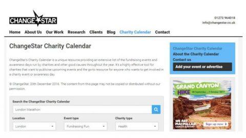 ChangeStar Charity Calendar