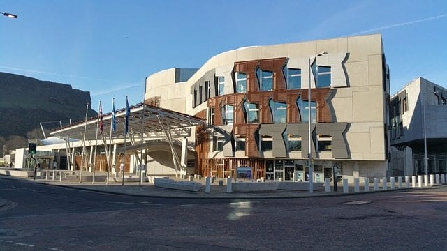 scottish parliament buiiding