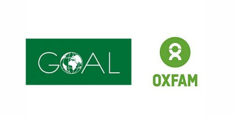 Oxfam Ireland and Goal Global logos