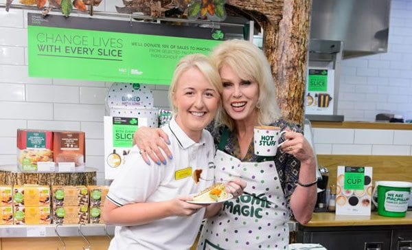 Joanna Lumley at M&S supporting The World's Biggest Coffee Morning
