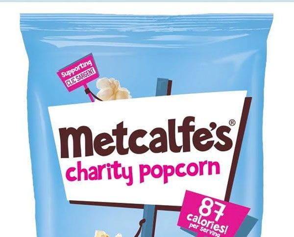 Metcalfe's charity popcorn pack