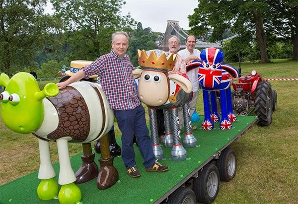Aardman's Nick Park and Shaun in the City