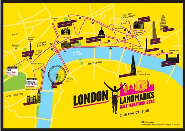 Tommy's london landmarks half marathon