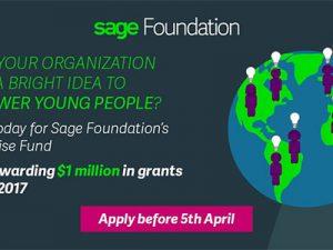Sage Foundation offers $1m to UK nonprofits for enterprising ideas