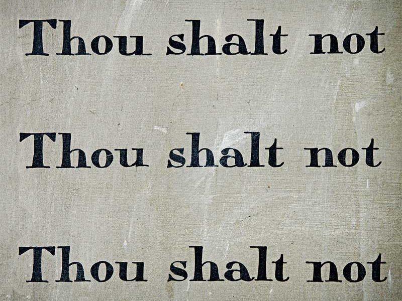 Thou shalt not - photo: Pixabay.com