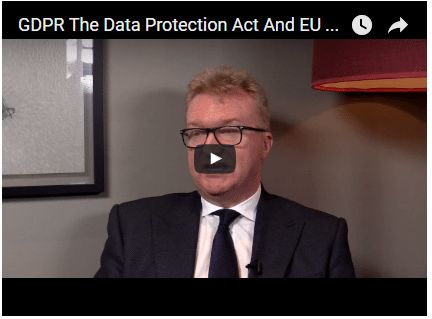 Dean Armstrong on GDPR