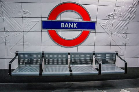 Bank Underground station sign