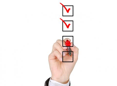 checklist survey tick