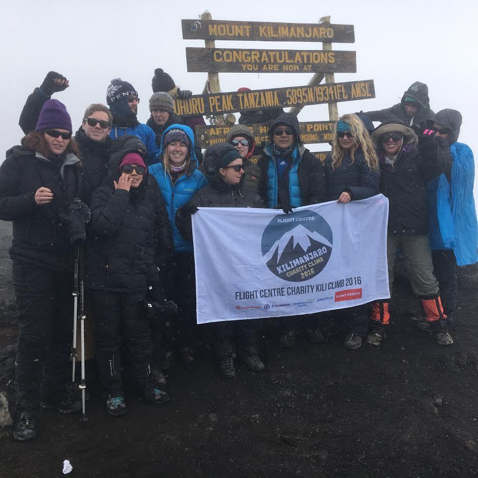 Flight Centre UK staff climb Mount Kilimanjaro for charity in 2016