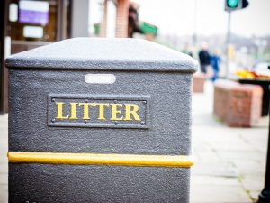 Selby litter bins become collection pots for charity