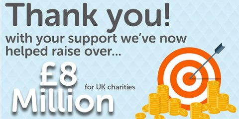 Give as you Live has raised £8 million in seven years