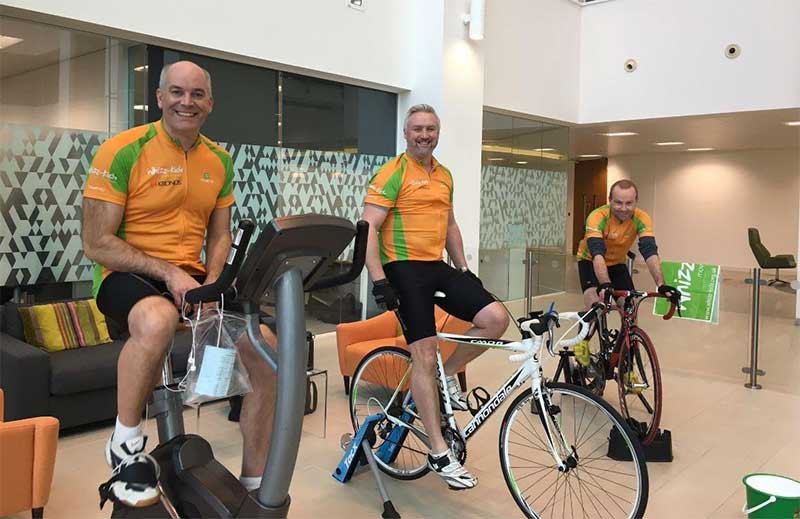 Rob, Paul and Steve at Kronos cycle for Whizz-Kidz