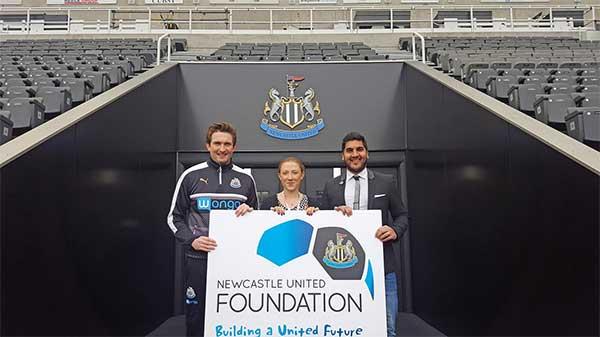 Malhotra Group plc supporters Newcastle United Foundation