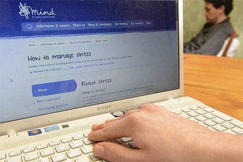 Mental health charity Mind's website advice on managing stress - photo: Newscast Online