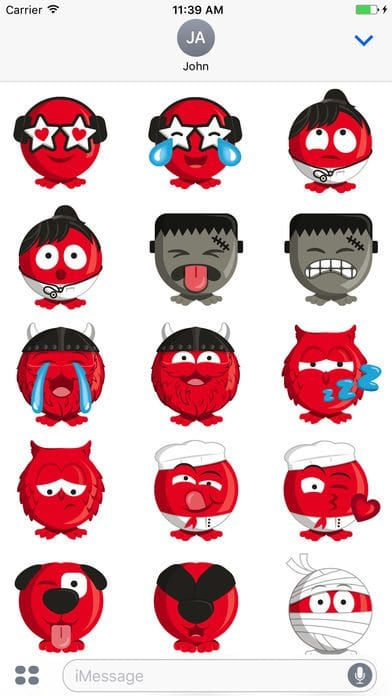 Comic Relief's Red Enojis app