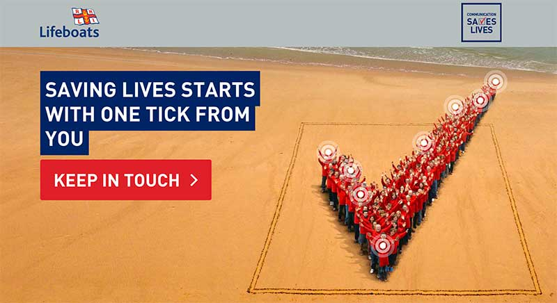 RNLI's opt in campaign message