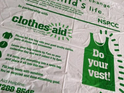 charity collection bag