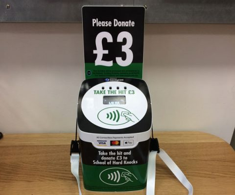 tap+DONATE contactless giving box