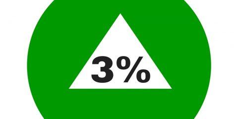 3% increase