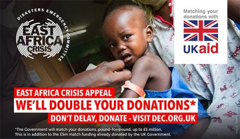 UK Aid doubling donations to DEC by a second £5 million