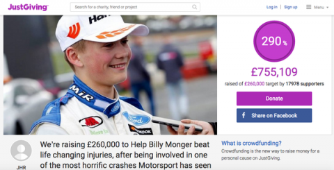 billy monger justgiving